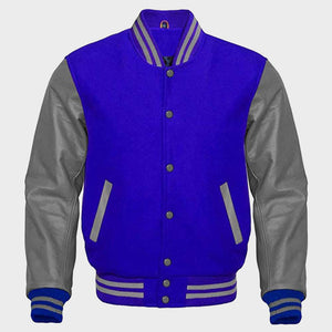 Blue Varsity Jacket For Womens
