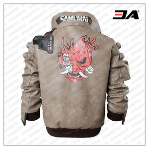 brown samurai leather jacket