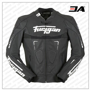 Custom Black And White Racing Motorcycle Jacket