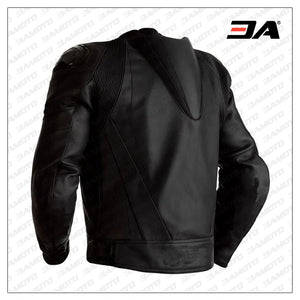 Custom Black Leather Motorcycle Leather Jacket