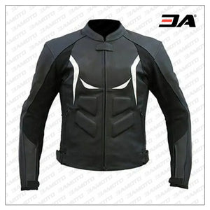Custom Motorbike Black And White Racing Jacket