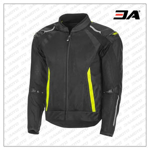 Custom Yellow And Black Racing Leather Jacket