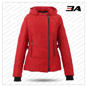 WOMEN RED DOWN JACKET