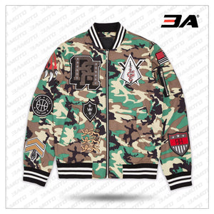Districts Camo Varsity Jacket