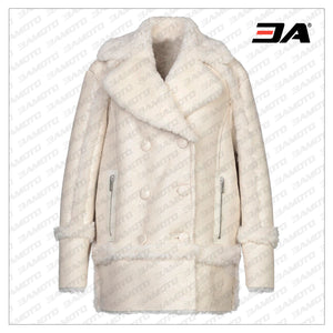 Double Breasted Fur Leather Coat