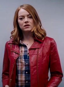 EMMA STONE LA LA LAND LEATHER JACKET
