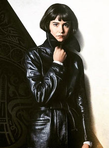 KATHERINE WATERSTON FANTASTIC BEASTS LEATHER LONG COAT