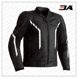 Motorcycle black And White Leather jacket