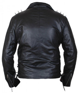 Ghost Rider Nicholas Cage Motorcycle Motorbike Biker Jacket With Metal Spikes - 3amoto