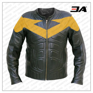Nightwing Motorcycle Leather Jacket Costume