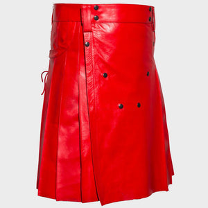 Red Leather Kilt
