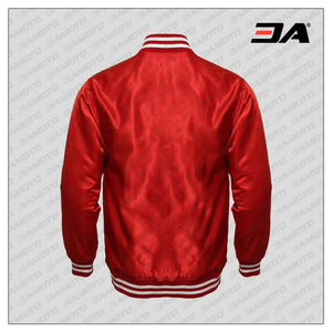 Red Satin Baseball Jacket