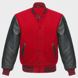 Women Red Varsity Jacket