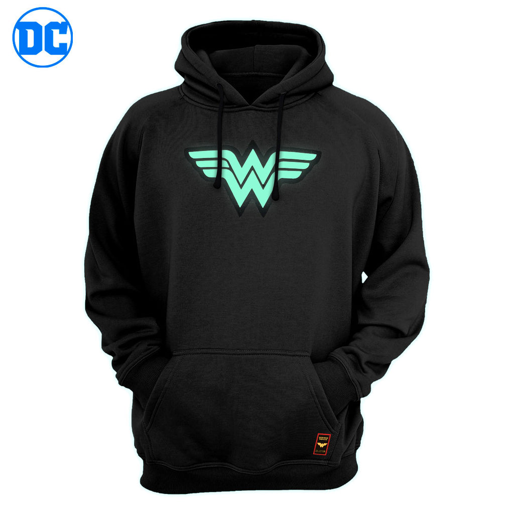 Sudadera Wonder Woman Logo Glow in the Dark - El Guante de Guslutt