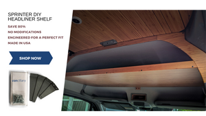 Sprinter Van Headliner Shelf DIY