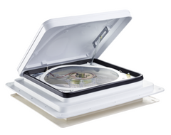 Dometic Fantastic Vent 803350 Open White Lid Side View