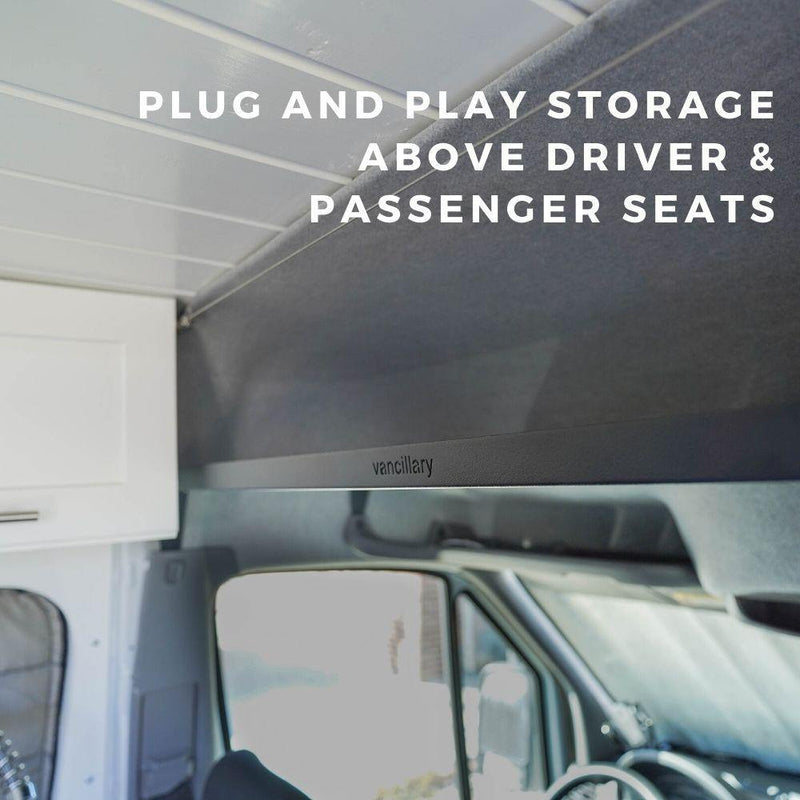 Plug and Play Storage Above Driver and Passenger Seats
