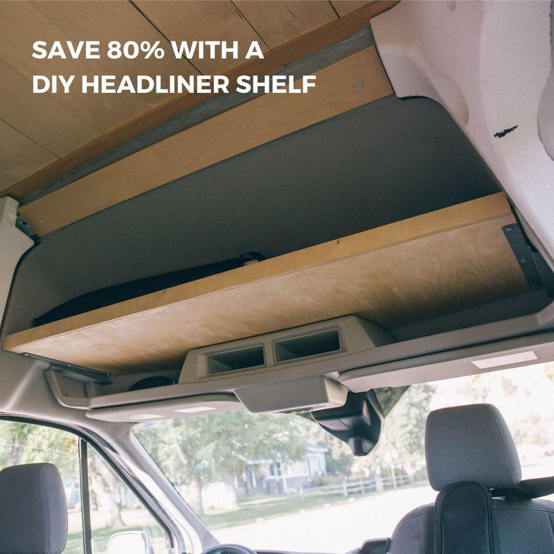 Ford Transit Headliner Shelf DIY Kit