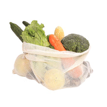 Load image into Gallery viewer, Cotton Mesh Vegetable Storage Bags - 9 Pack