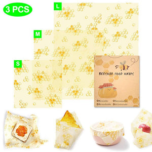 Three Pack Beeswax Wraps