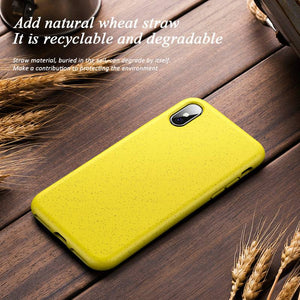 Eco-Friendly Wheat Straw iPhone Case