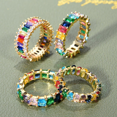 Gold Rhinestone Ring