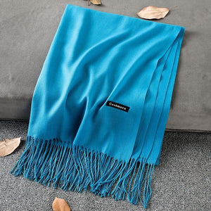 Cashmere Scarf with Tassles