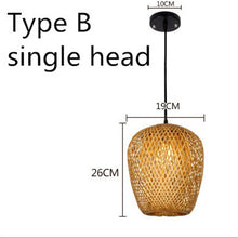 Load image into Gallery viewer, Bamboo Art Pendant Light