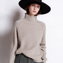 Load image into Gallery viewer, Knitted Cashmere Turtleneck Sweater