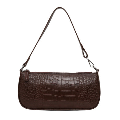 Faux Alligator Print Messenger Handbag