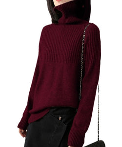 Long-Sleeved Cashmere Pullover