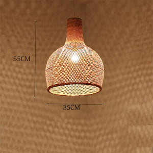 LED Hand-Woven Bamboo Pendant Light