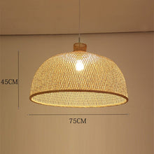 Load image into Gallery viewer, LED Hand-Woven Bamboo Pendant Light