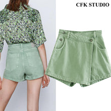 Load image into Gallery viewer, CFK Asymmetric Crossover Skort Shorts