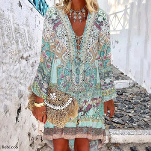Summer Beach Dress Dresses Clothes Swimwear Womens Cover Women Printed Autumn Polyester Print Saida De Praia Pareo