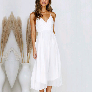 Chiffon Maxi Dress with Spaghetti Straps