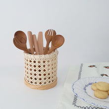 Load image into Gallery viewer, Handmade Rattan Eating Utensils
