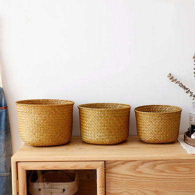 Nordic Style Hand-Woven Rattan Storage Baskets
