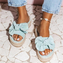 Load image into Gallery viewer, Bowknot Platform Sandals