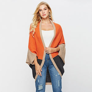 Block Colour Cardigan with Bat Sleeves