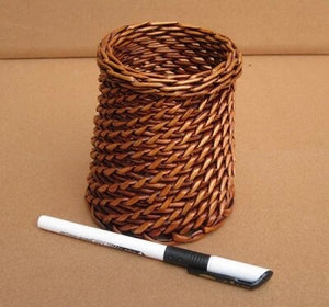 Rattan Pen & Pencil Organizer