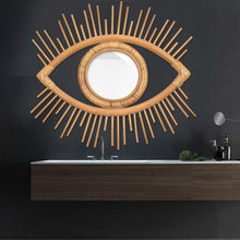 Load image into Gallery viewer, Rattan 'Eye' Hanging Mirror