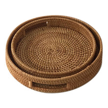 Load image into Gallery viewer, Rattan Hand Woven Round Tray
