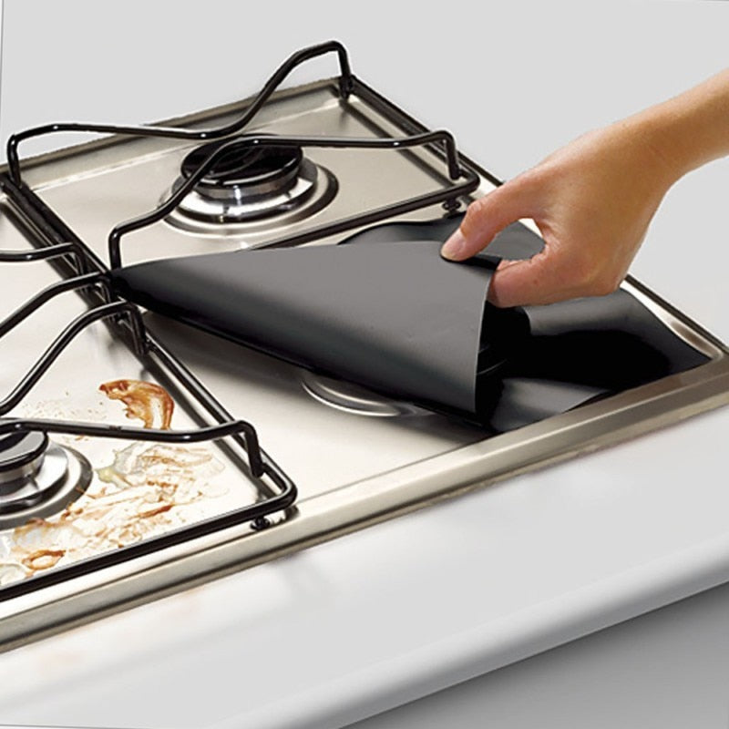 4pcs Reusable Gas Hob Covers
