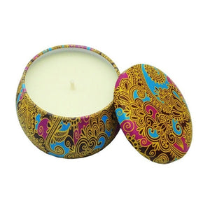 Aromatherapy Candle with Retro Tin