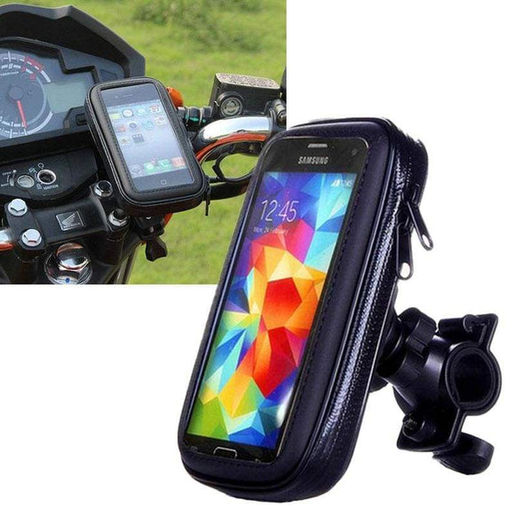 Accessoire Smartphone - Support moto waterproof pour smartphone - fixation guidon - 1