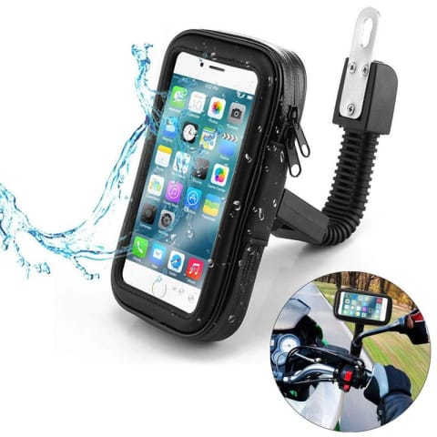 Support moto waterproof pour smartphone - fixation vis