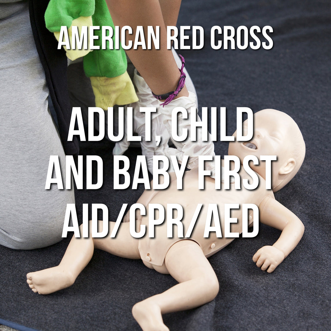 Adult, Child and Baby First Aid/CPR/AED Online