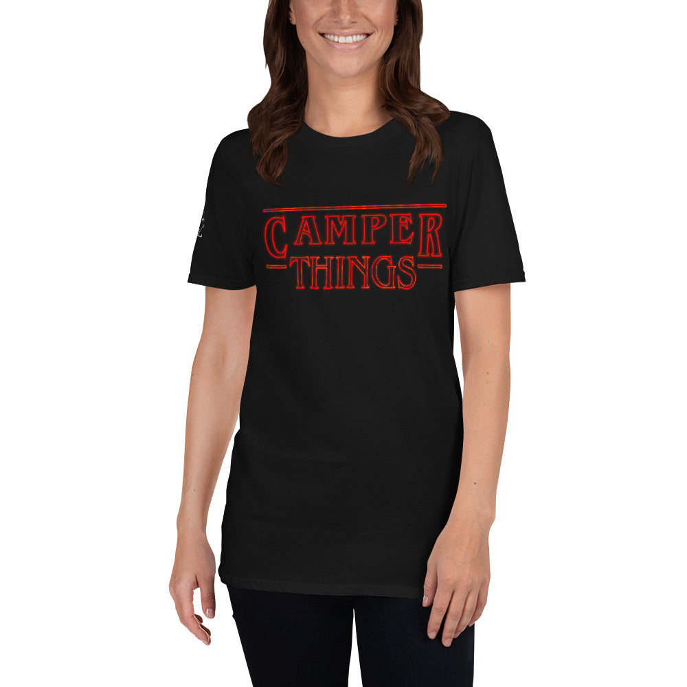 T-shirt Stranger things version Camper - Designed For Campers