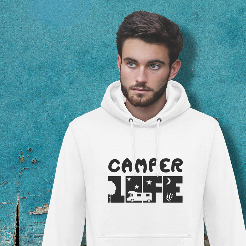 Sweat à Capuche Camper Life - Designed For Campers